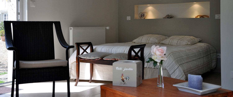 Les Marronniers chambre d'hôtes : chambre Deauville