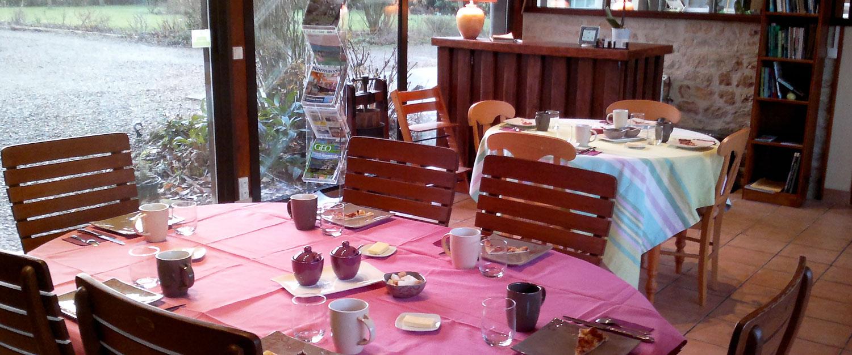 Les Marronniers chambre d'hôtes : petits déjeuners