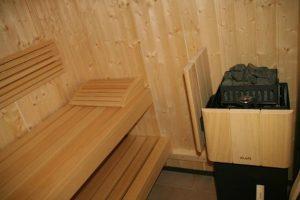 wellness guest room Deauville, sauna