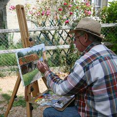 cambremer peintre dans la rue