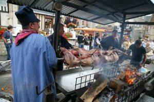 rotisserie au marché de Cambremer